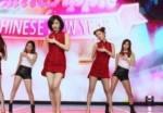 韩国女团T-ara唱《小苹果》 红色短裙吸睛